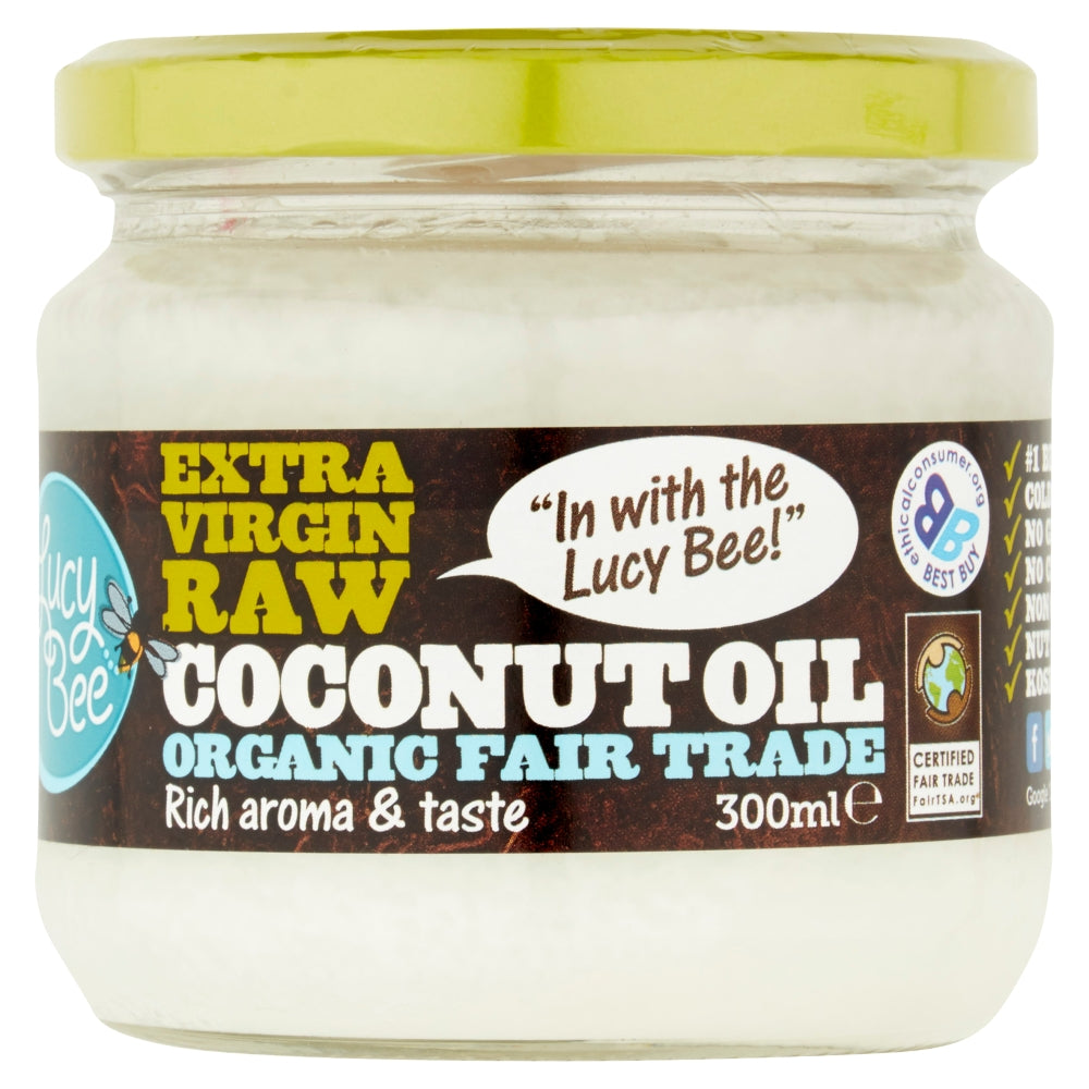 3 x 300ml Extra Virgin Raw Organic Coconut Oil