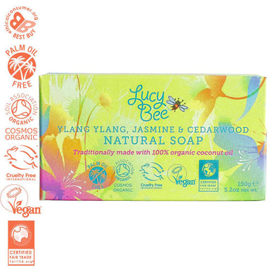 Ylang Ylang Jasmine and Cedarwood Natural Soap Pack Shot