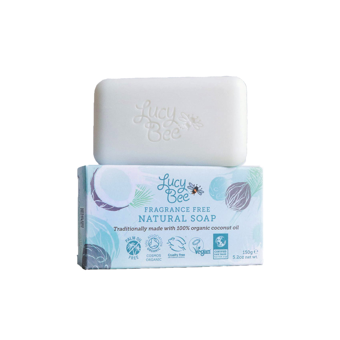 Lucy Bee Fragrance Free Soap Bar and Pack Image