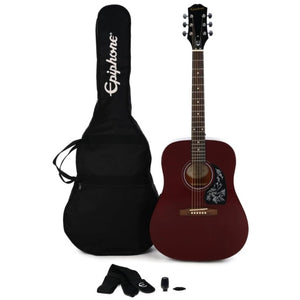 Fret Zealot + Epiphone Starling Acoustic Pack | Wine Red
