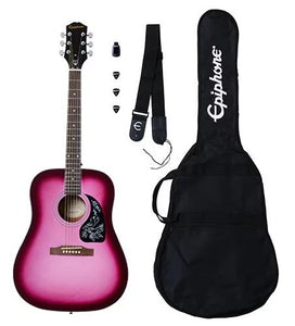 Fret Zealot + Epiphone Starling Acoustic Pack | Hot Pink Pearl