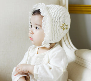 Dolly Eyelet & Knit Bonnet
