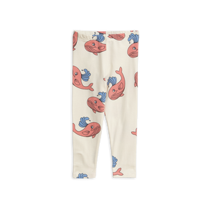 Mini Rodini - Pink Whale Leggings