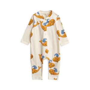 Mini Rodini - Orange Whale Jumpsuit