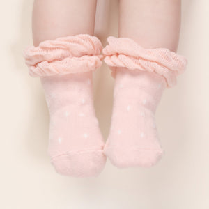 Double Ruffle Socks - Pink
