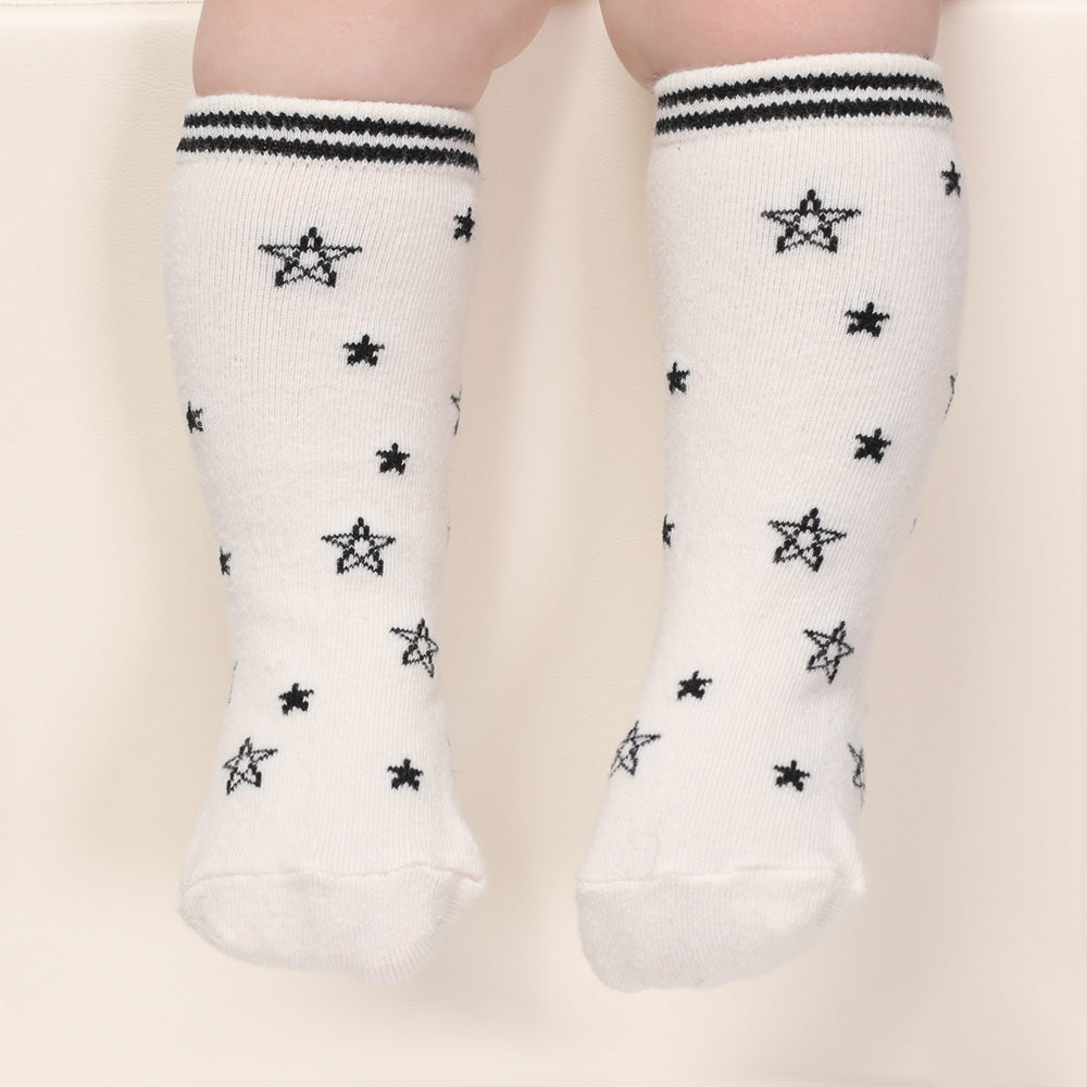 Pop Stars Knee Socks - White