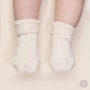 Layered Cake Socks - Cream