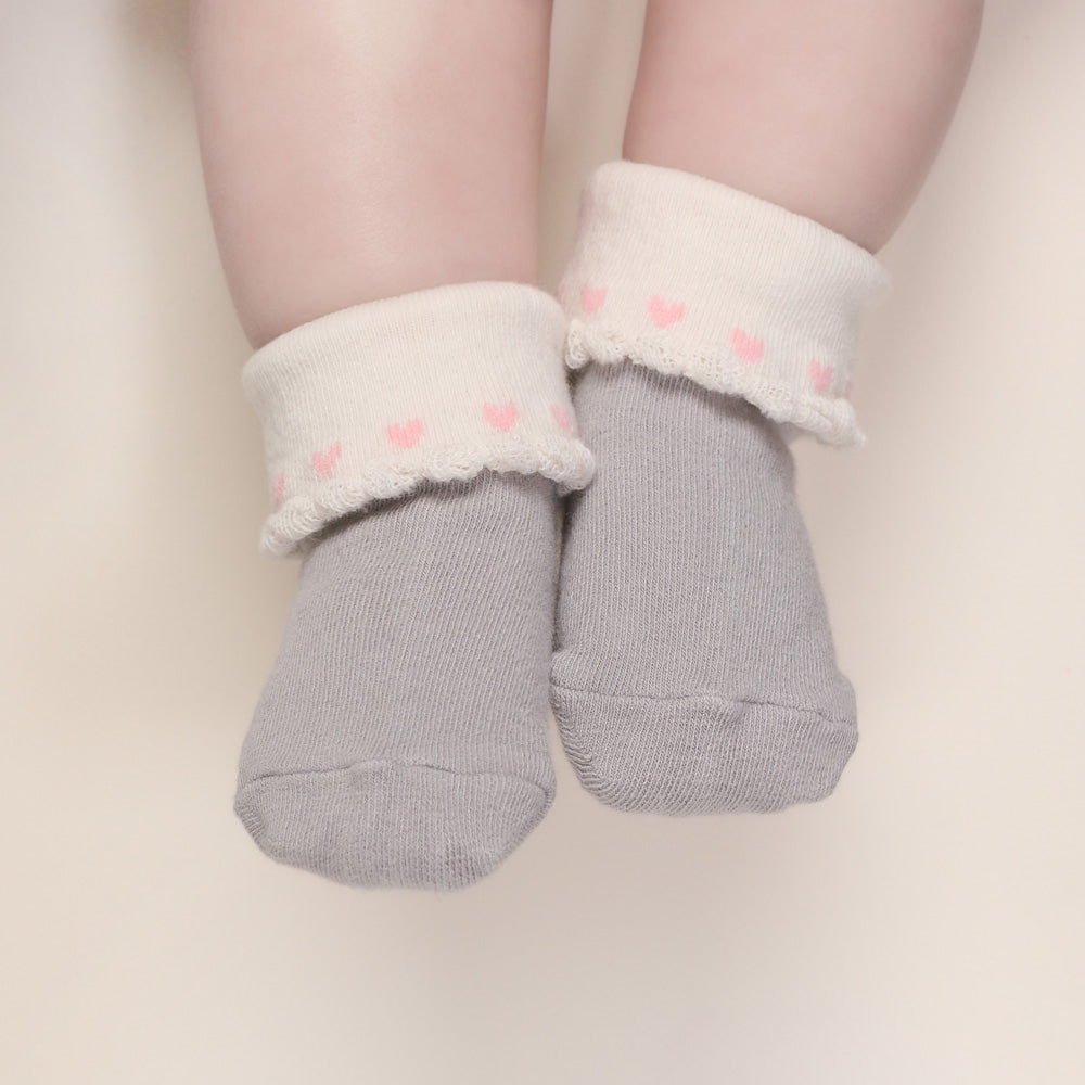 All Hearts Socks - Grey