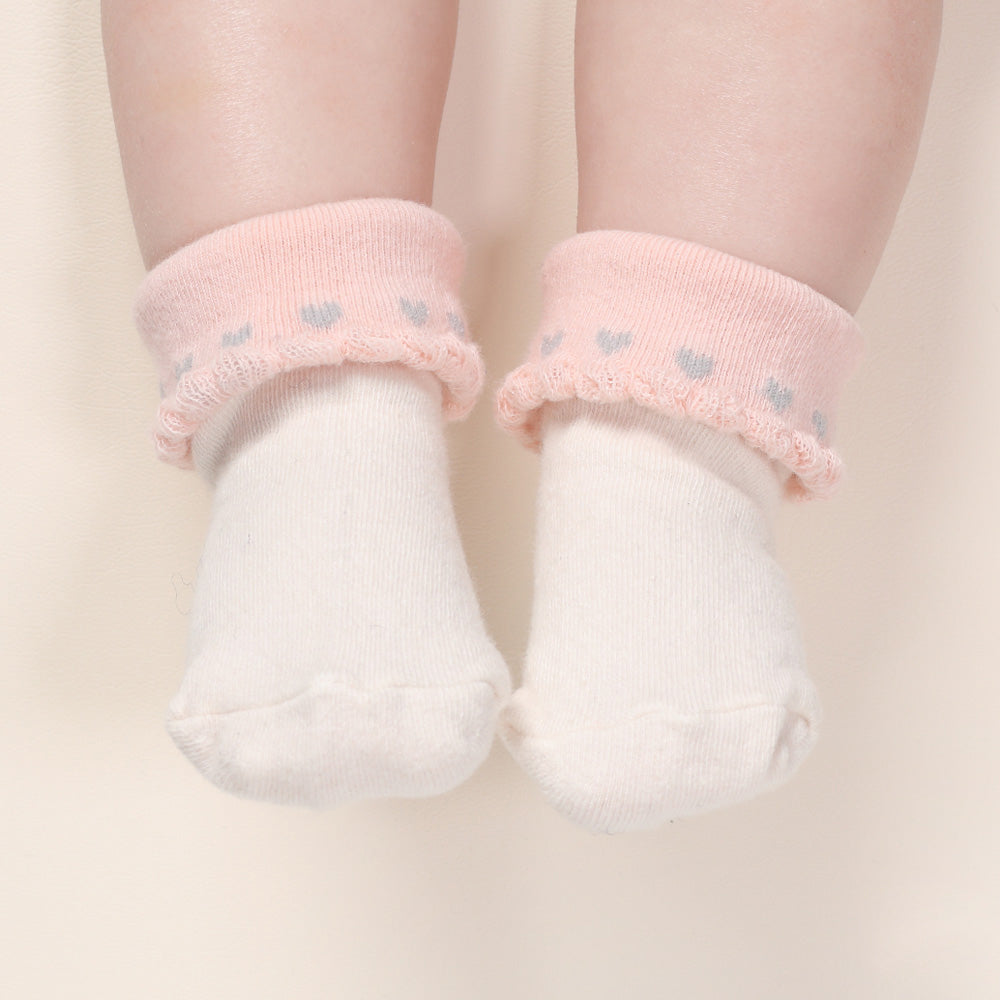 All Hearts Socks - White