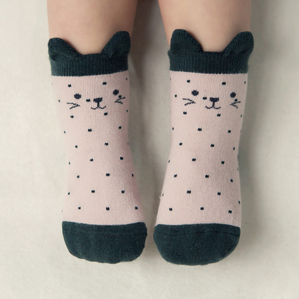 Cats & Dots Socks - Peppermint