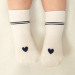 Amor Heart Socks - Navy