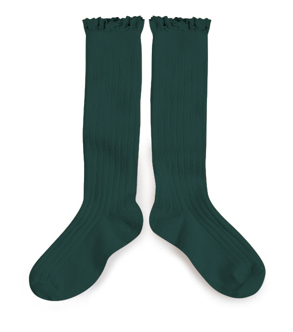 Collégien - Ruffle Knee Socks (Teal)