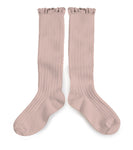 Collégien - Ruffle Knee Socks (Rose)