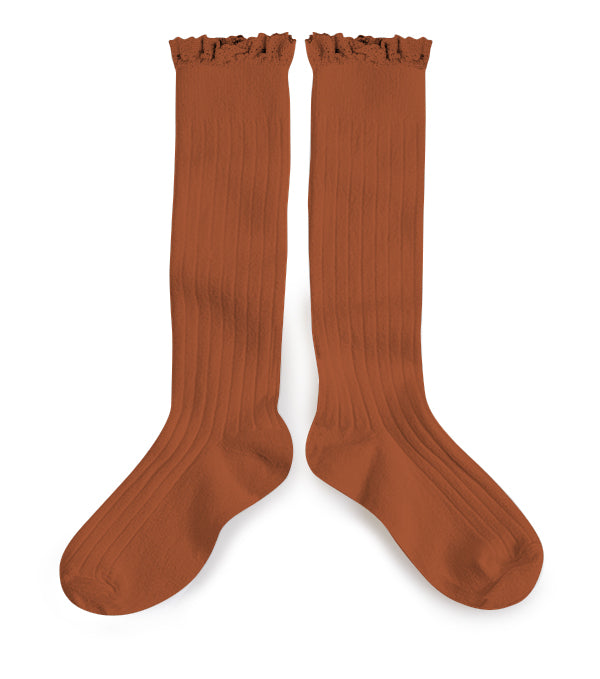 Collégien - Ruffle Knee Socks (Spice)