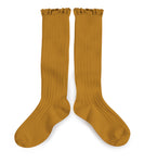 Collégien - Ruffle Knee Socks (Mustard)