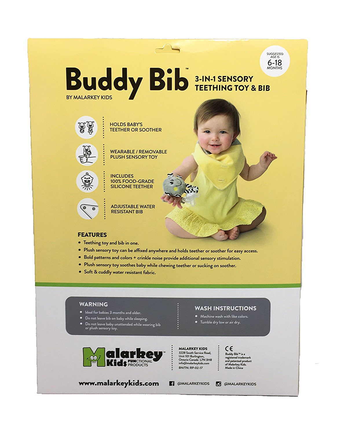 "Buddy Bib - ""Mookie"" Yellow"