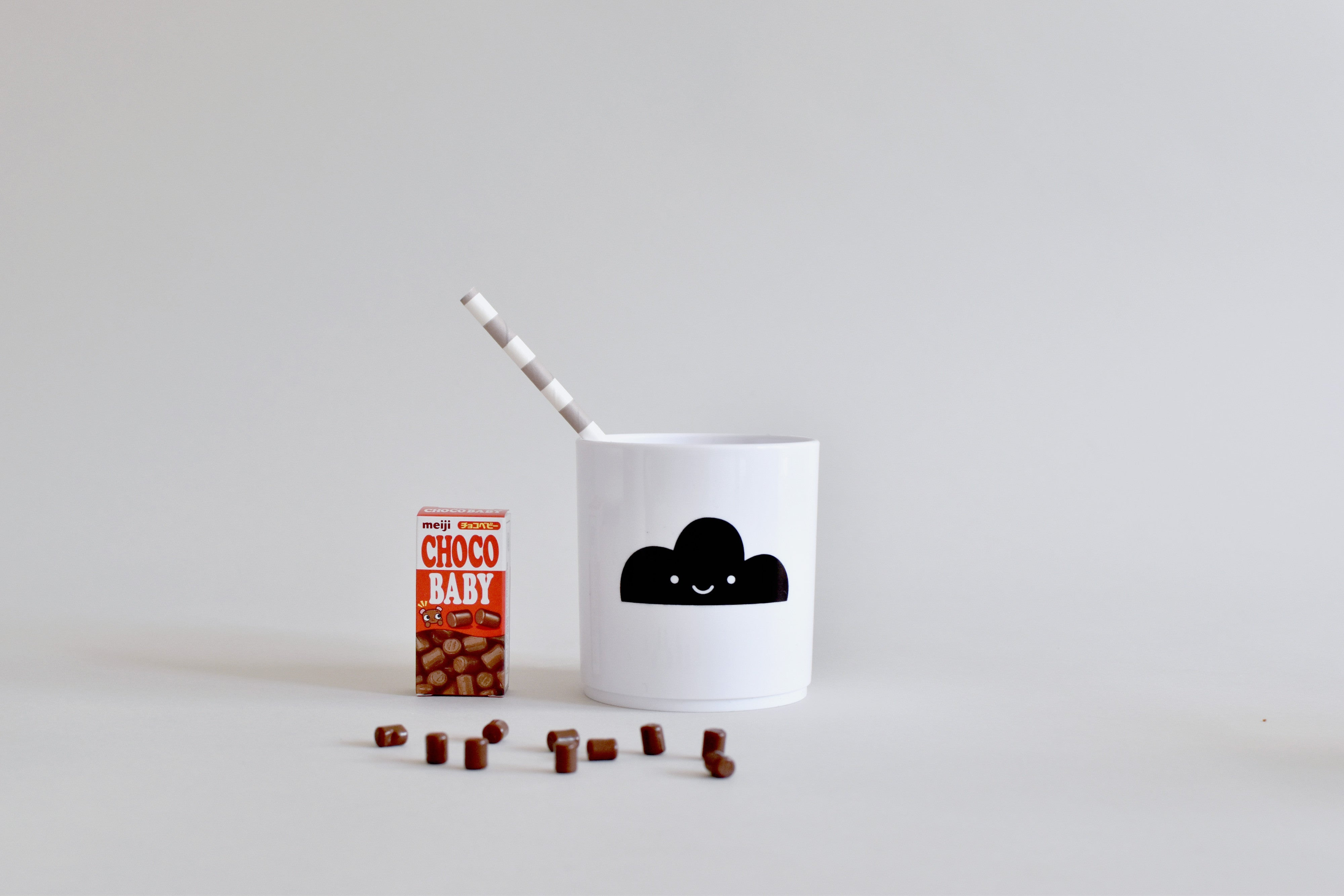 Buddy & Bear - Happy Clouds Cup (Black)