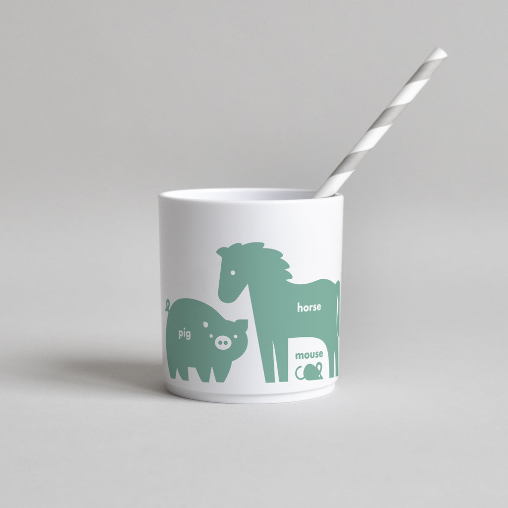 Buddy & Bear - Farm Animal Cup (Green - White Edition)