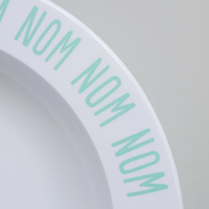 Buddy & Bear - Nom Nom Nom Plate (Mint)