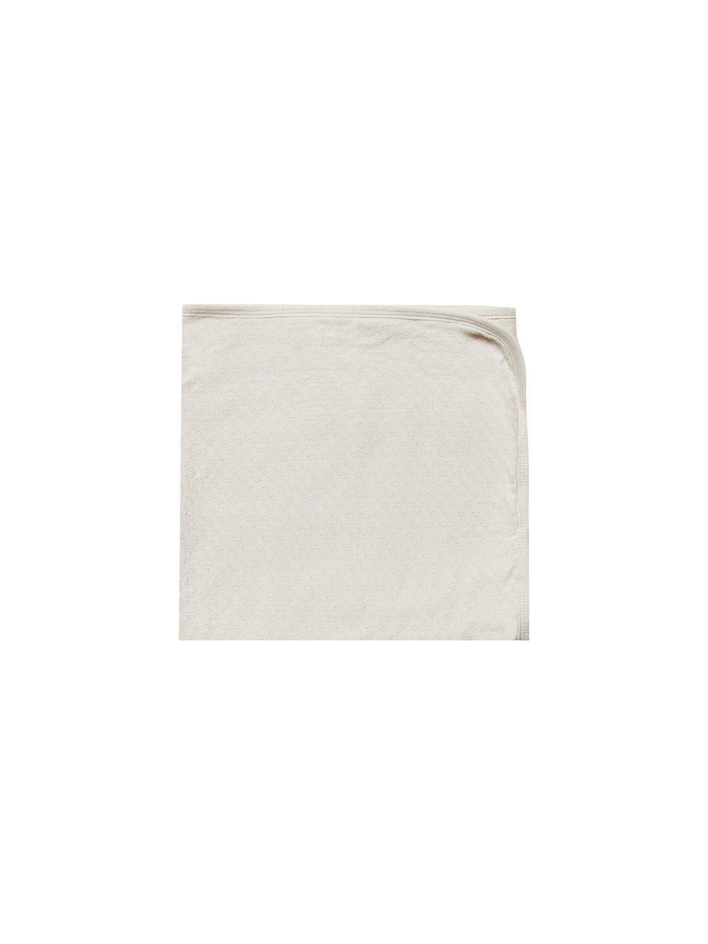 Quincy Mae - Pointelle Baby Blanket (Pebble)