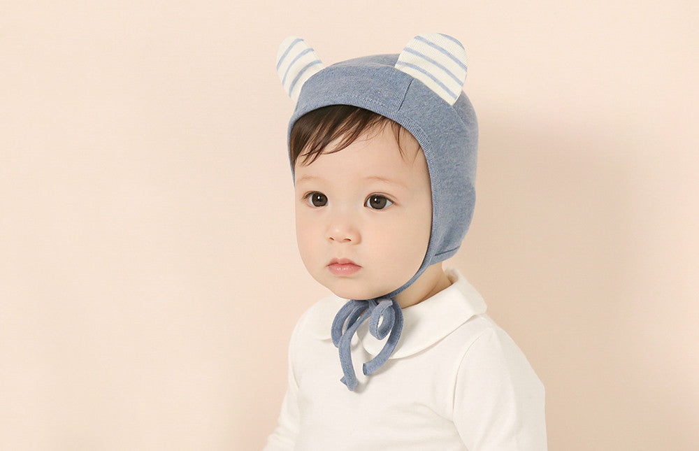 Striped Nighty Bear Bonnet