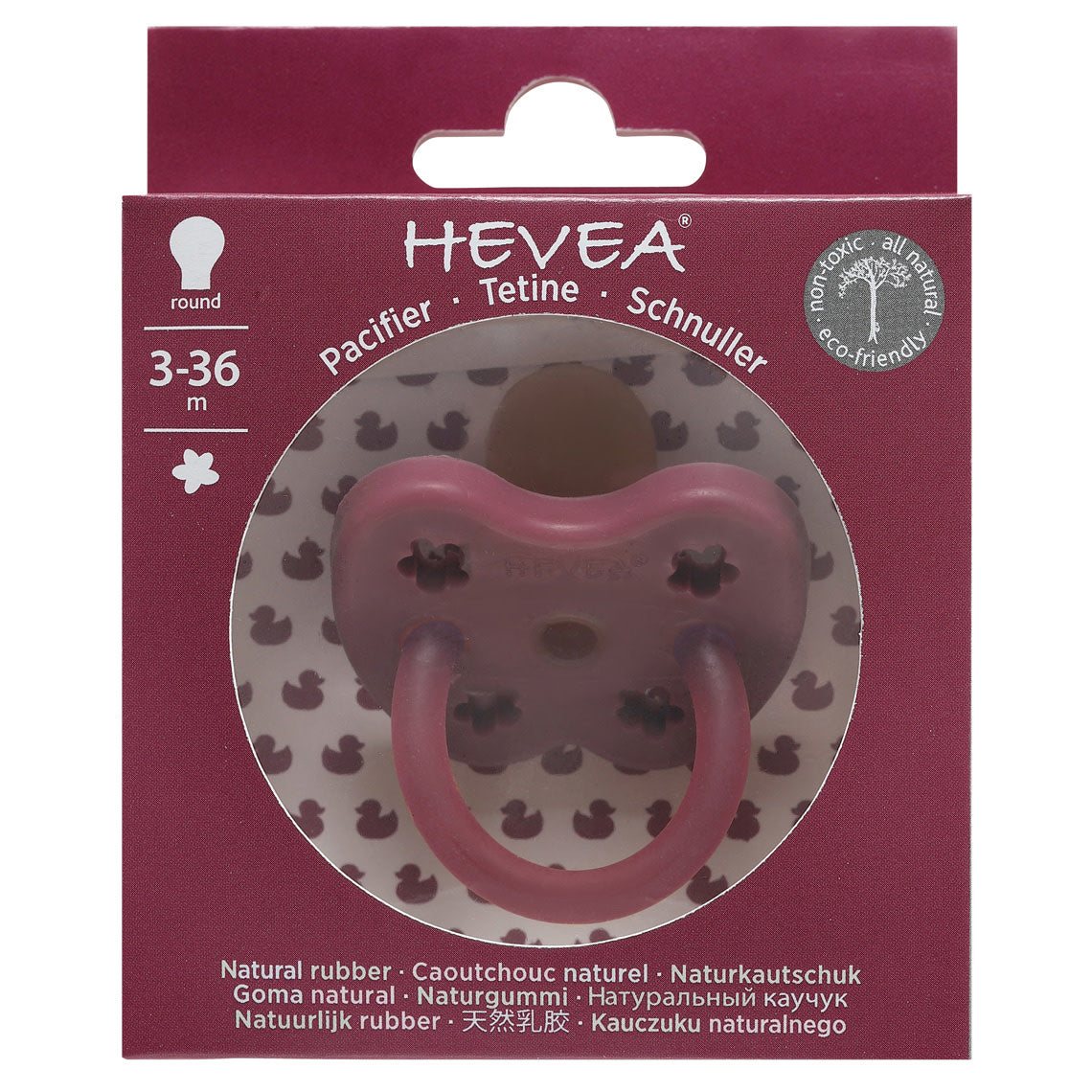 Hevea - Pacifier (Ruby Red - R|0/3m + 3/36m)