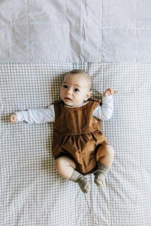 Fin and Vince - Corduroy Romper (Hazelnut)