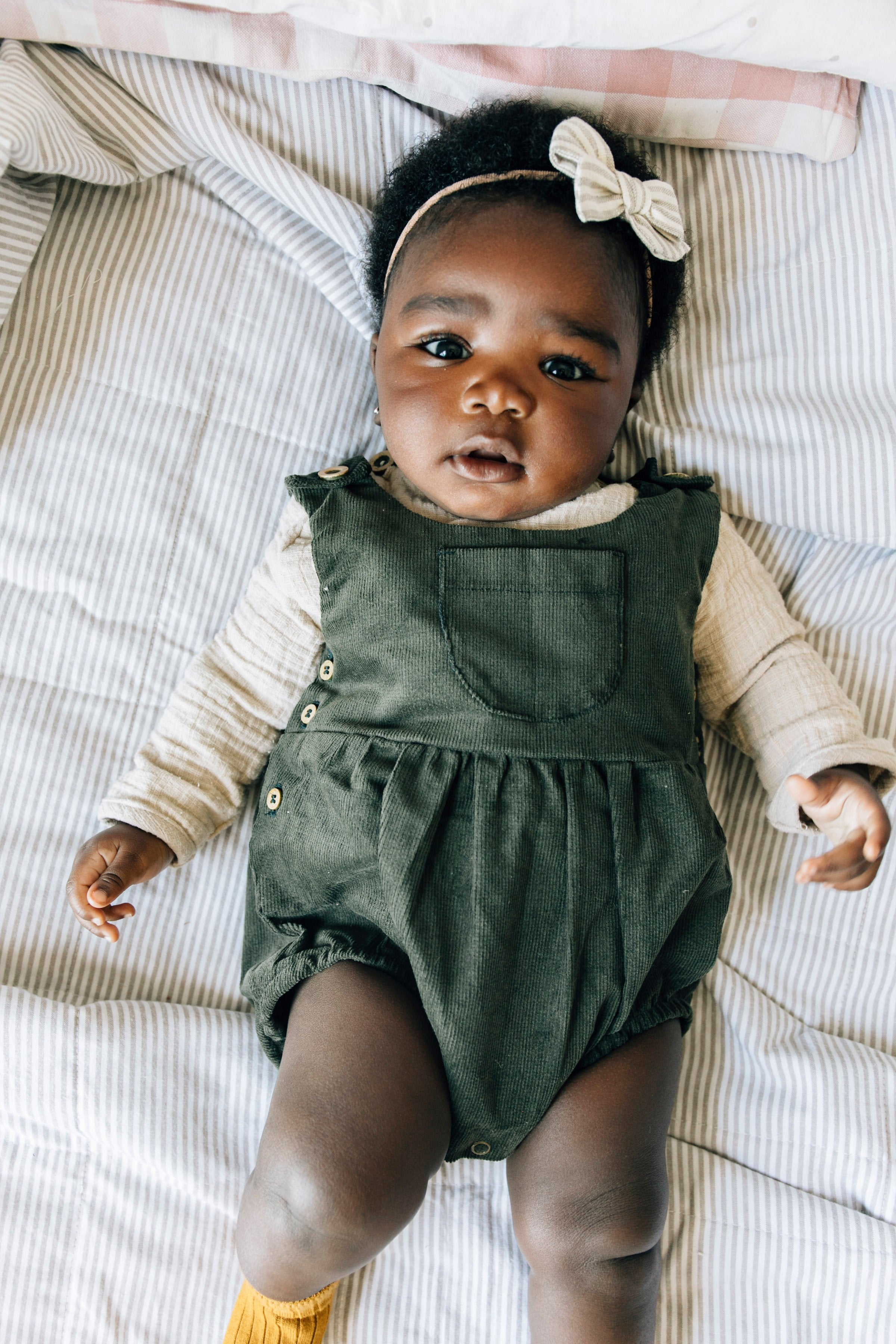 Fin and Vince - Corduroy Romper (Olive) - Last 2/3