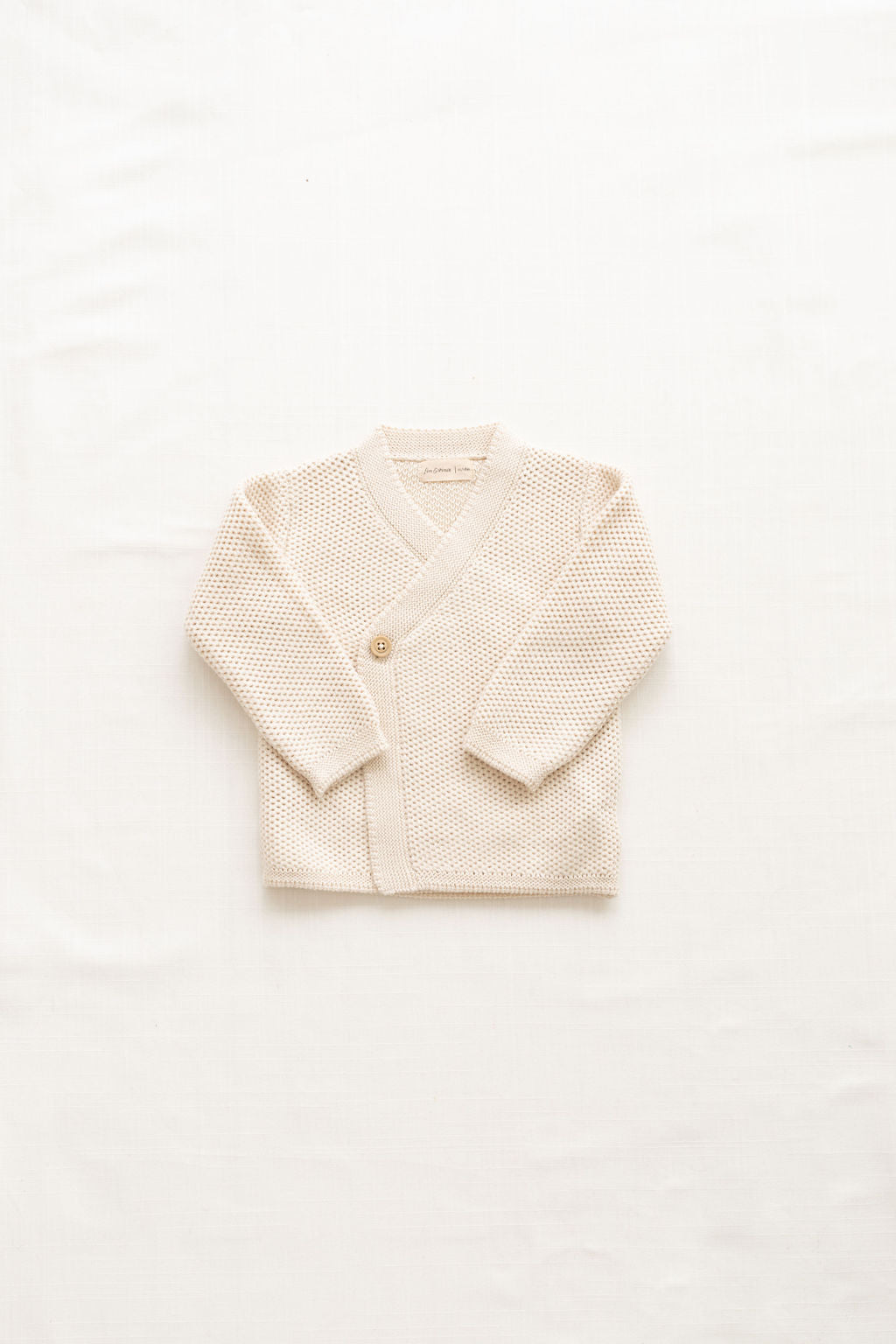 Fin and Vince - Knitted Wrap Cardigan (Milk)