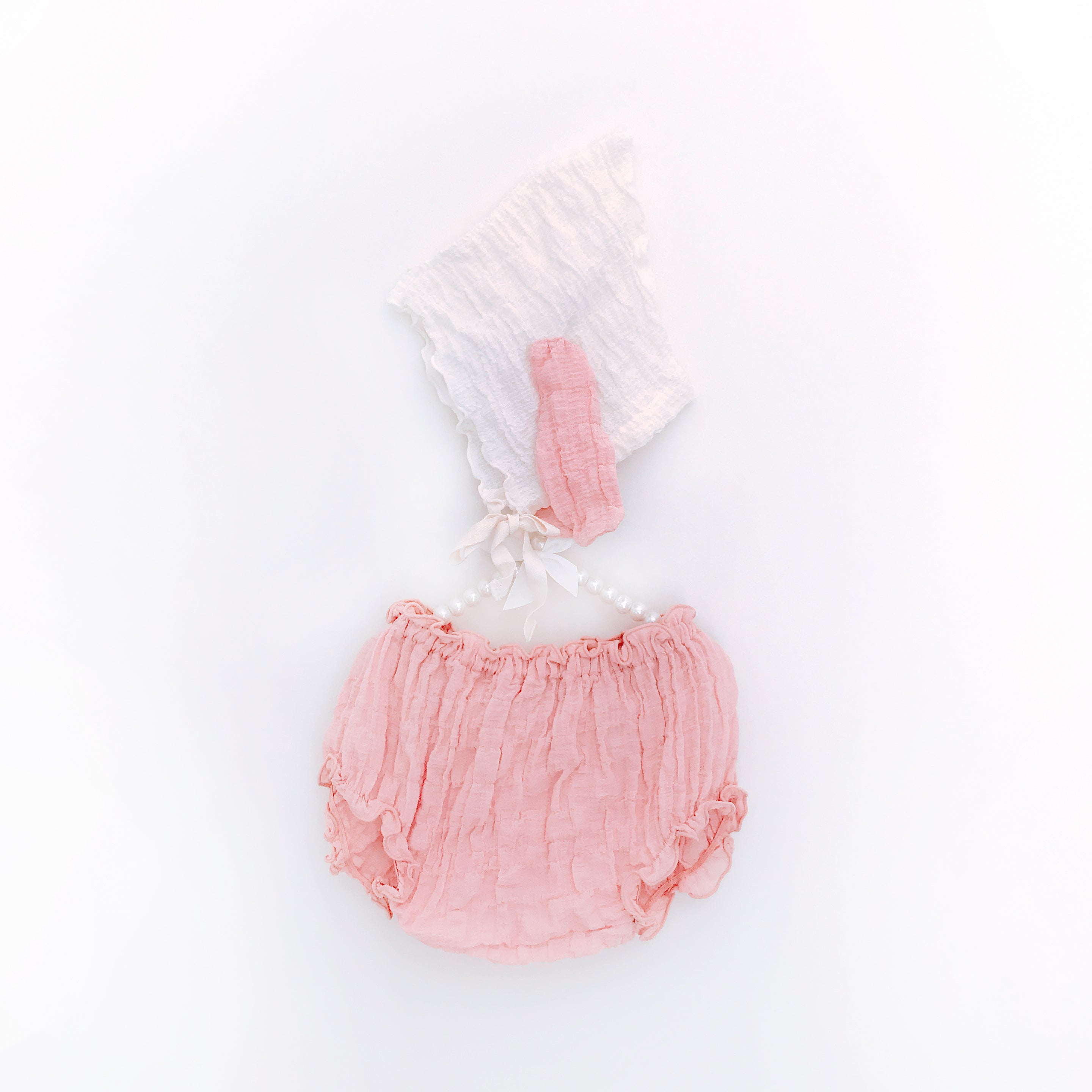 Puppy Bonnet + Bloomers - Pinky