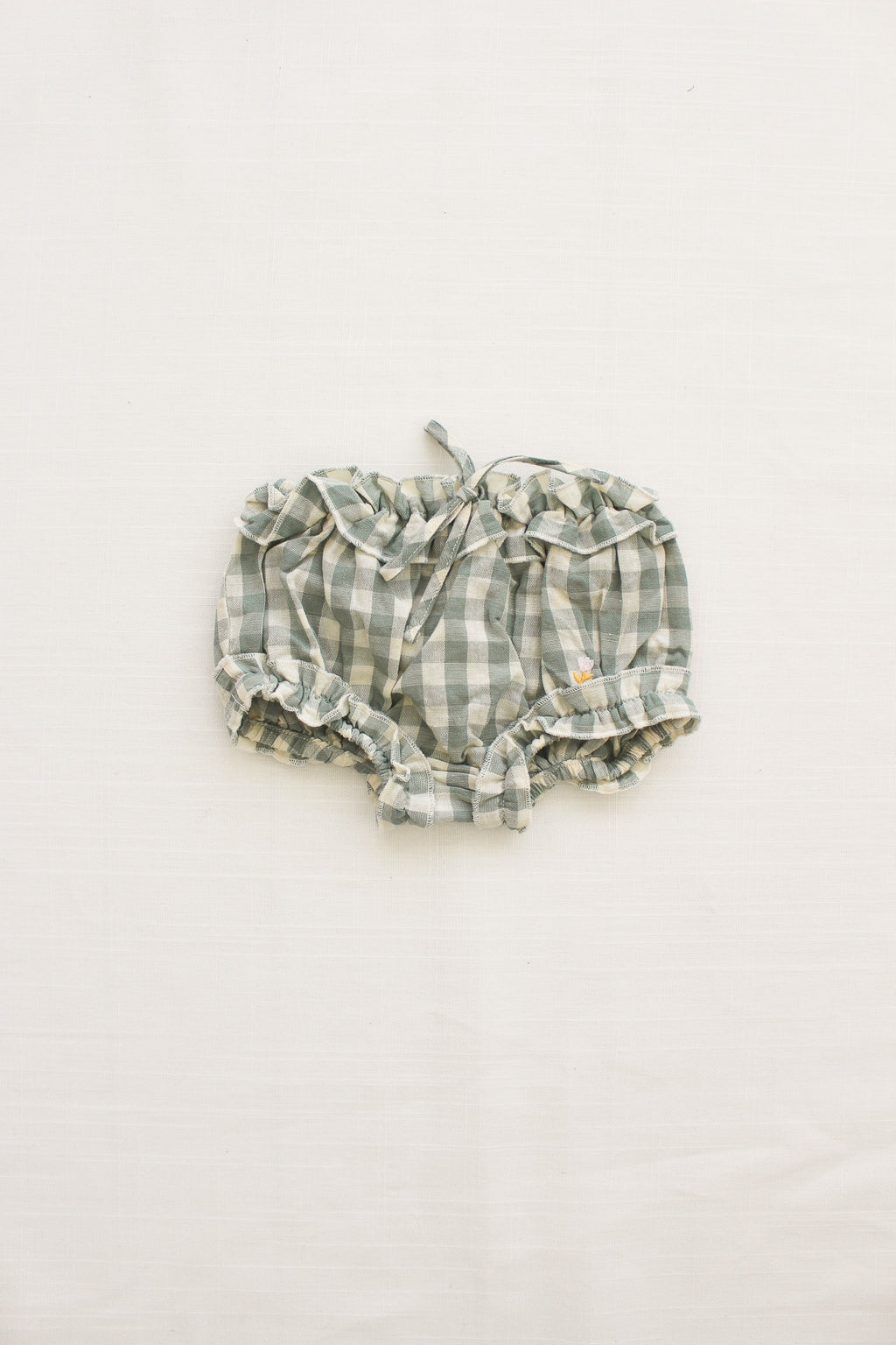 Fin and Vince - Picnic Bloomer (Pistachio Gingham) - Last 3/6