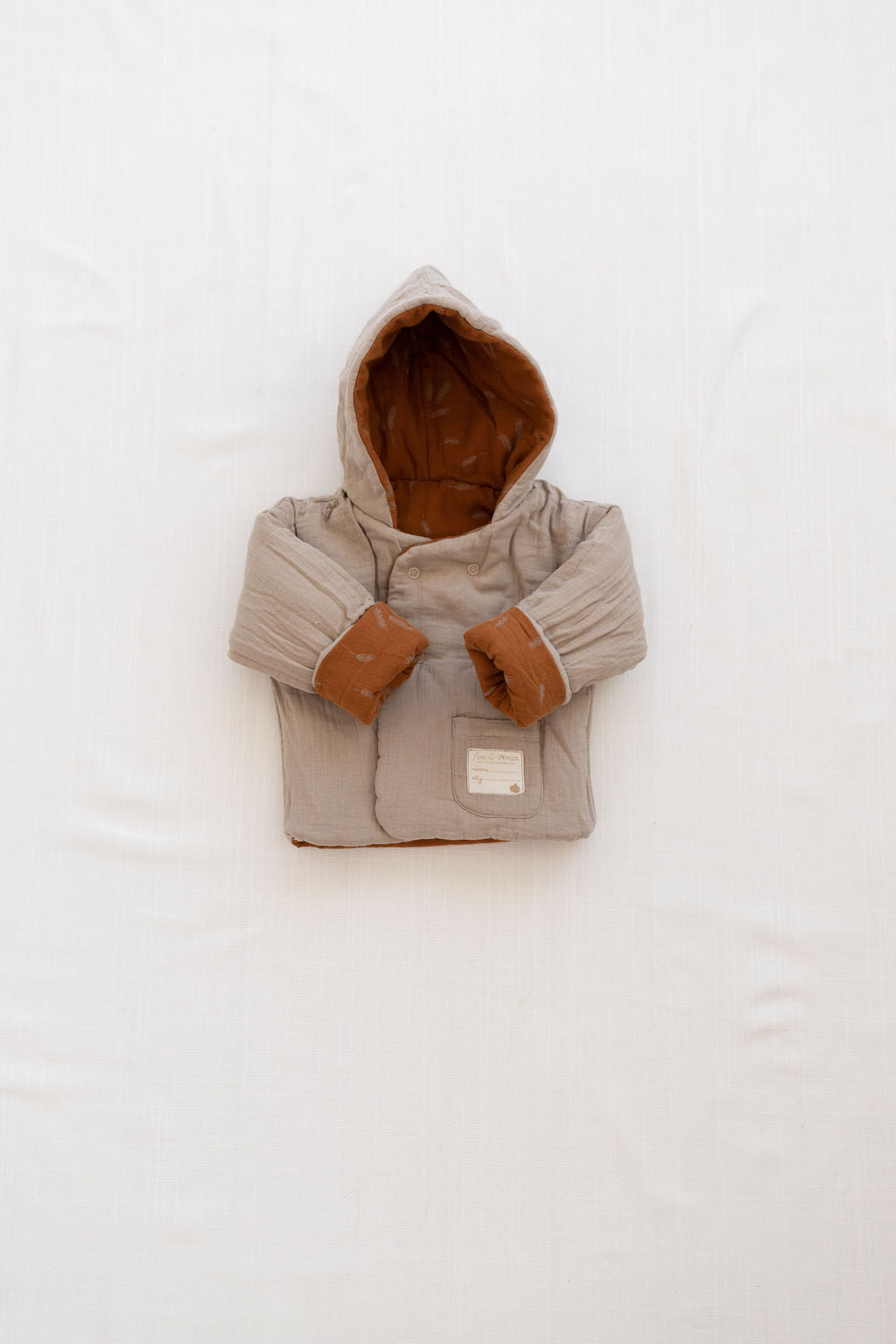 Fin and Vince - Reversible Cozy Jacket (Wheat)