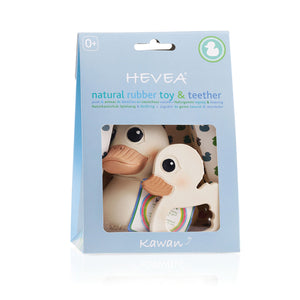 "Hevea - ""Kawan"" Natural Teether + Toy Set"