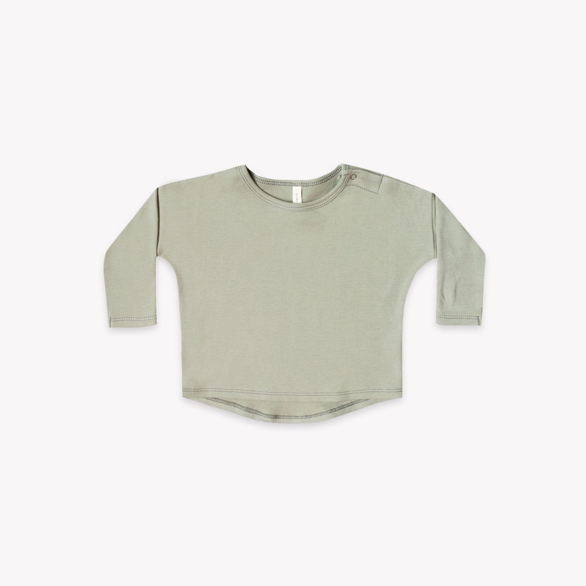 Quincy Mae - Longsleeve Baby Tee (Sage) - Only 0/3 & 3/6