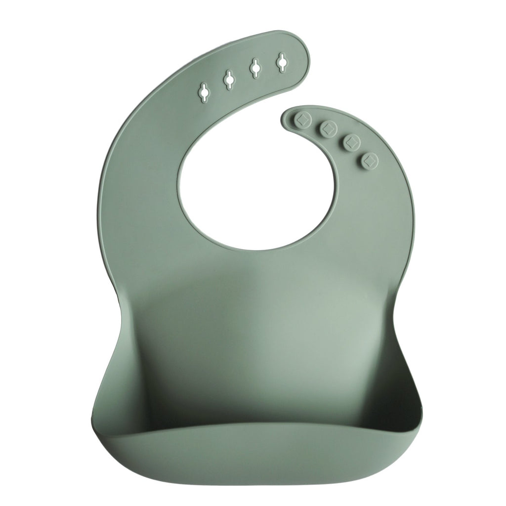 MUSHIE - Silicone Bibs (Cambridge Blue)