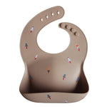 MUSHIE - Silicone Bibs (Rocket Ship)