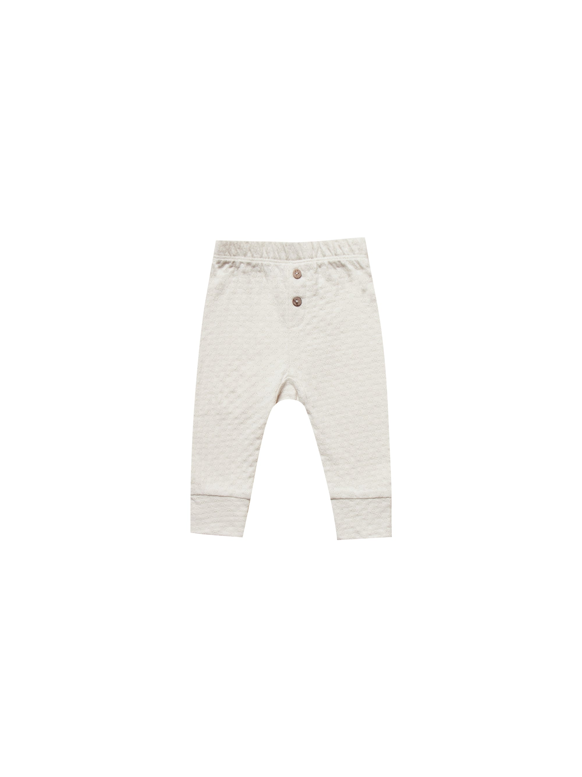 Quincy Mae - Pointelle Pajama Pant (Pebble)