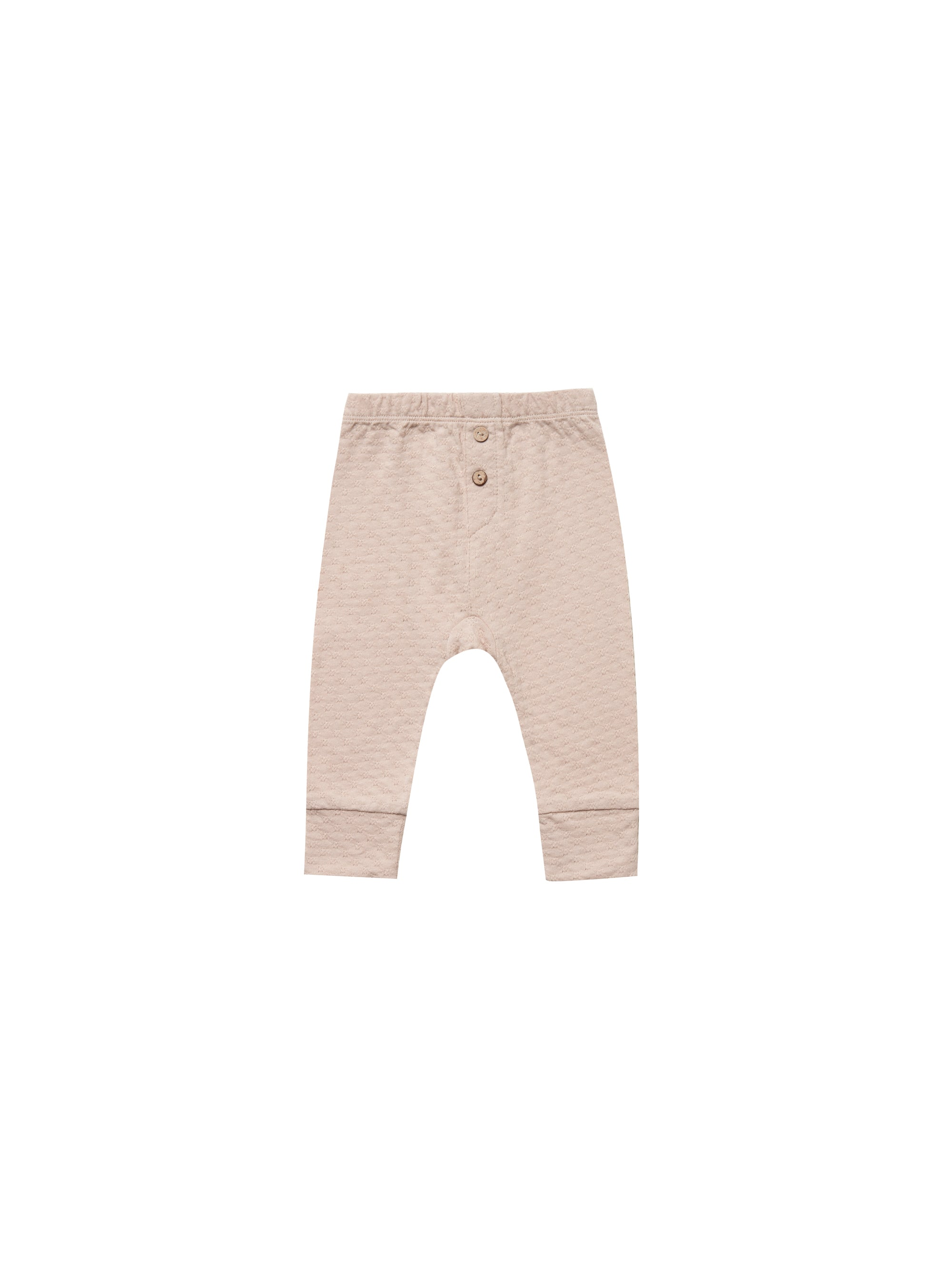Quincy Mae - Pointelle Pajama Pant (Rose)