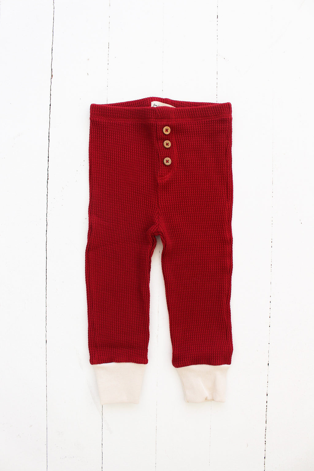 Fin and Vince - Button Pant (Waffle Crimson)