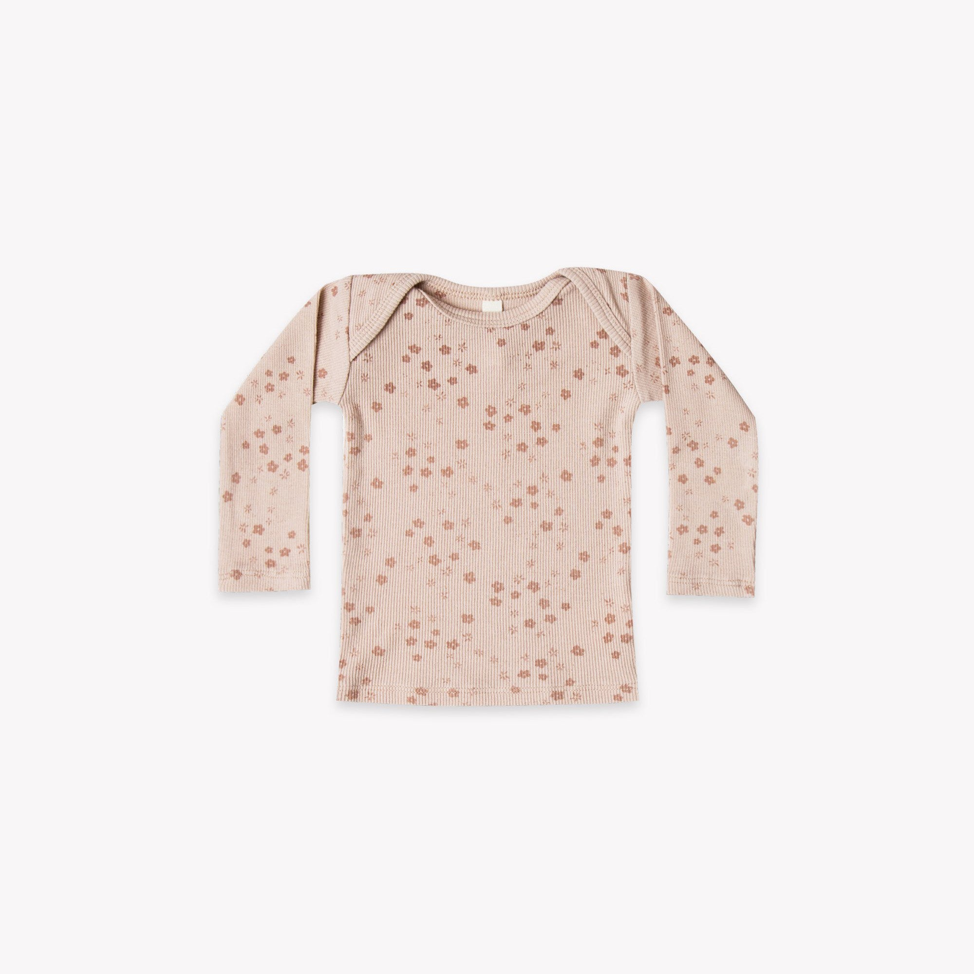 Quincy Mae - Ribbed Lap Tee (Rose)