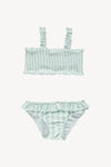 Fin and Vince - Smocked Bikini (Pool Stripe) - Only 18/24 & 8/9