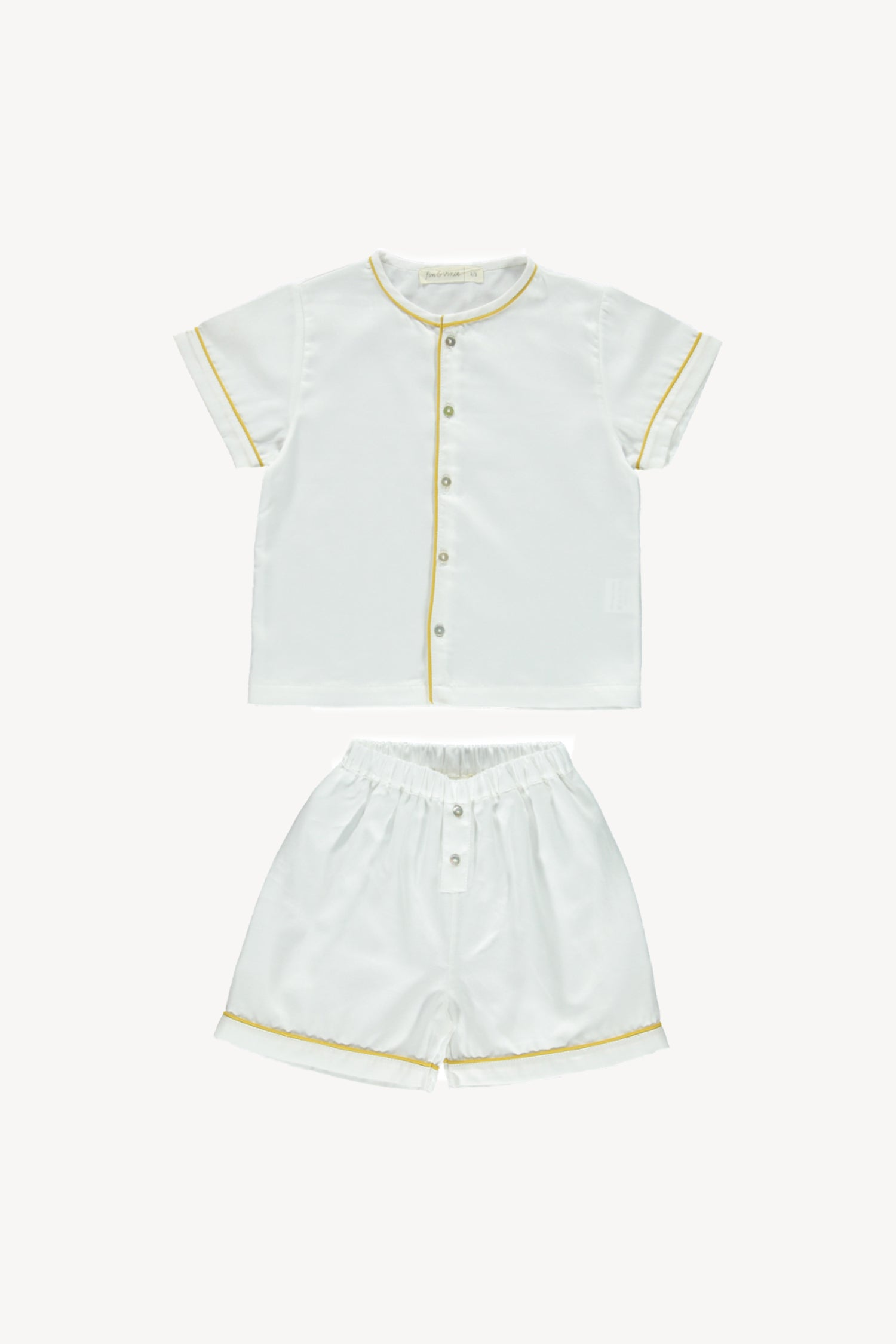 Fin and Vince - Heirloom Trouser Short (White/Mustard)