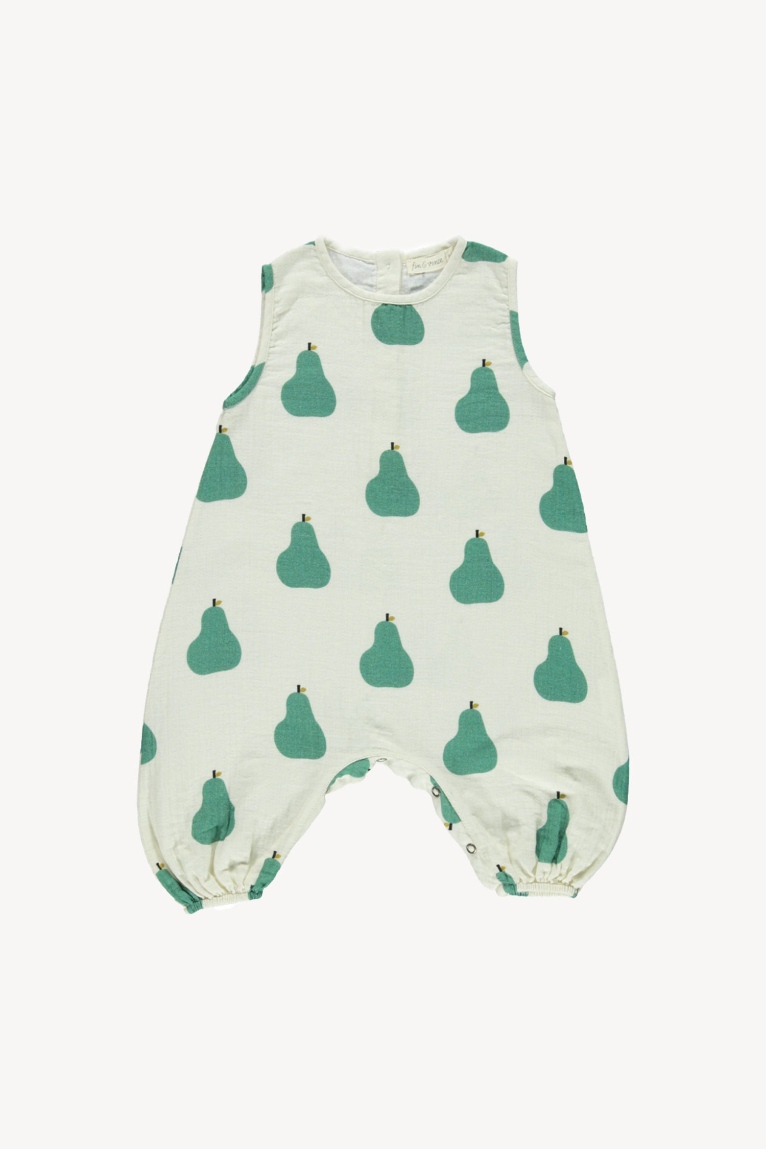 Fin and Vince - Tank Romper (Pears) - Last 0/3