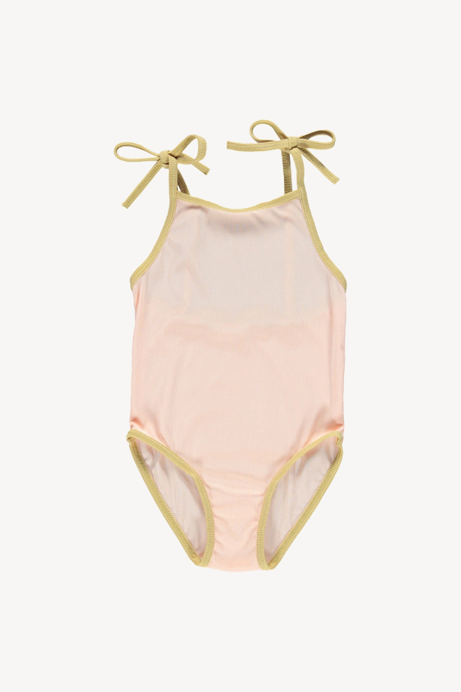 Fin and Vince - Ribbed Swimsuit (Sherbert/Mustard) - Last 6/12