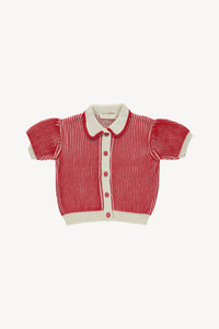Fin and Vince - Charlie Cardigan (Brick Red)