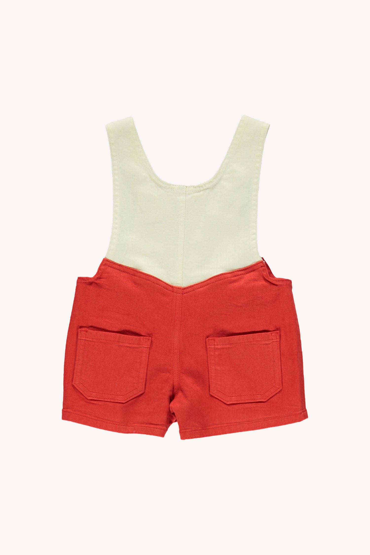 Fin and Vince - Twill Short Overall (Brick Red/Vanilla) - Last 3/6