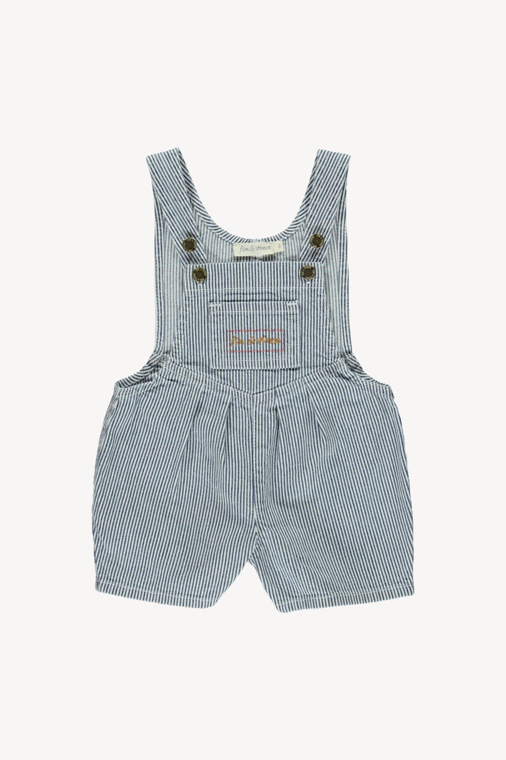Fin and Vince - Denim Short Overall (Stripe) - Last 0/3