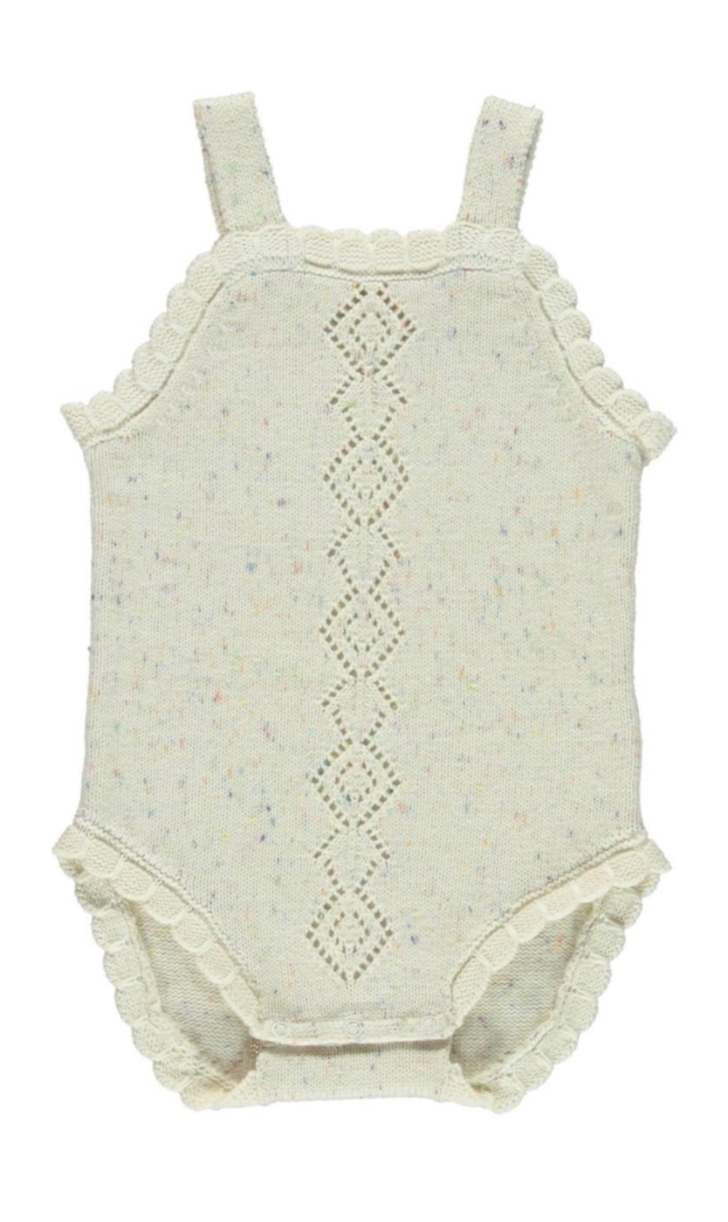Fin and Vince - Scallop Onesie (Confetti)
