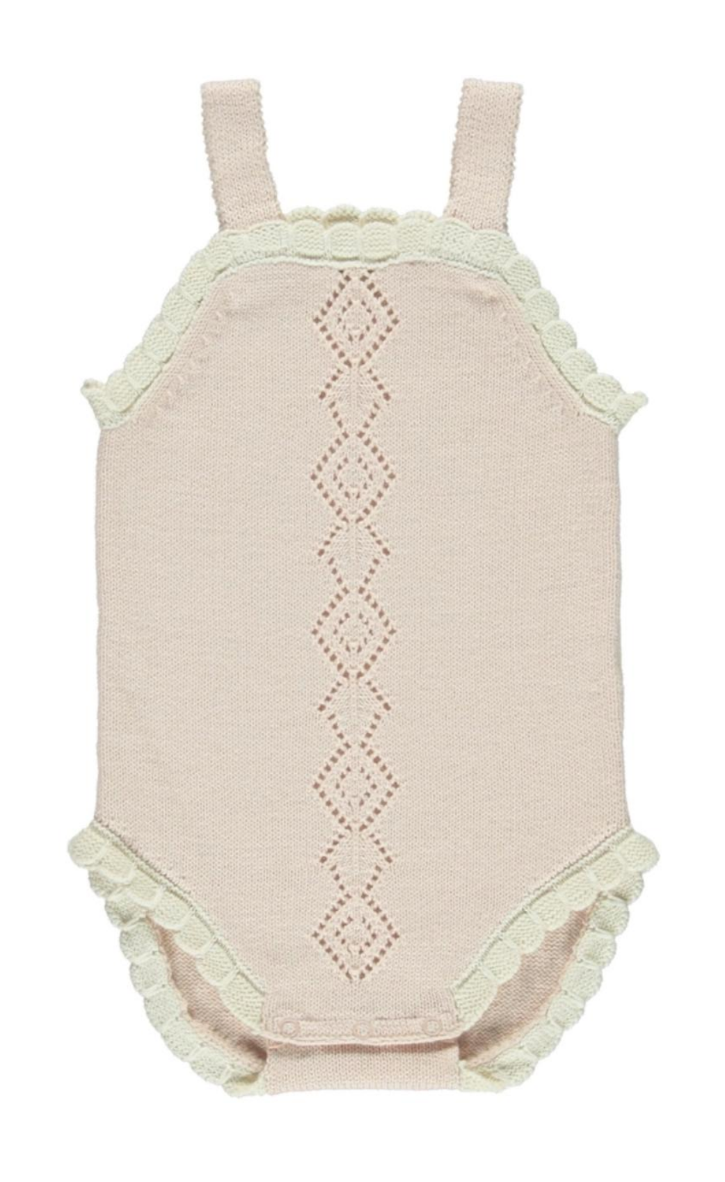 Fin and Vince - Scallop Onesie (Blush)