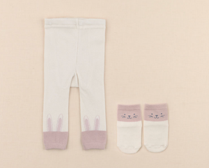 Little Rabbit Footless Tights + Socks